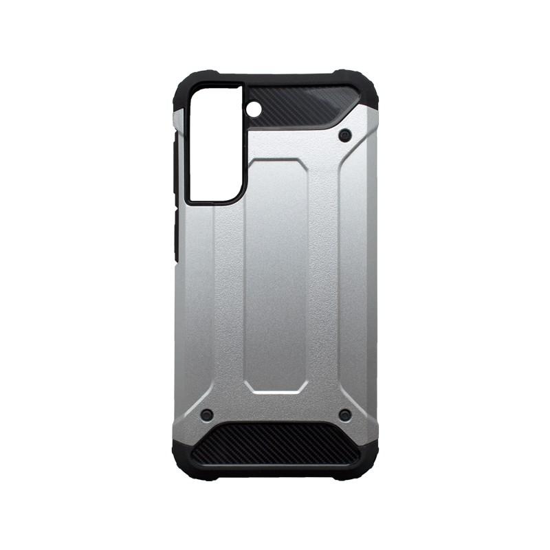 Samsung Galaxy S21 Plus Kemény hátlapvédő tok, ezüst Military