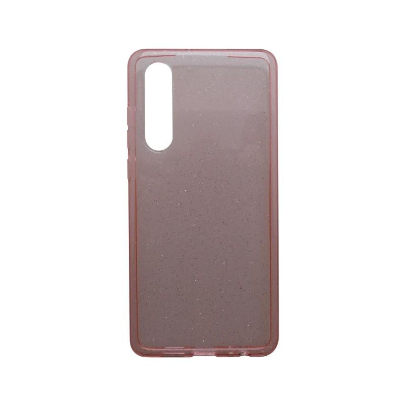 Hátlapvédő tok Crystal Huawei P30 rózsaszín