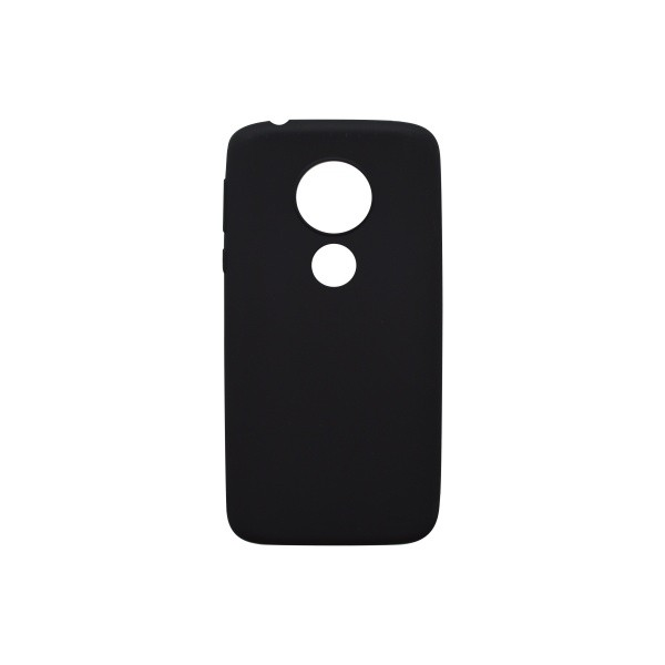 Tapadásmentes hátlapvédő tok Moto G6 Play fekete, matt