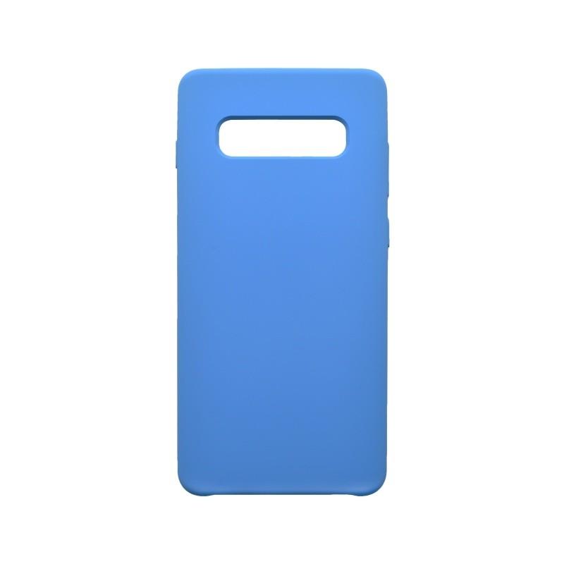 Hátlapvédő tok Silicon Samsung Galaxy S10 Plus kék