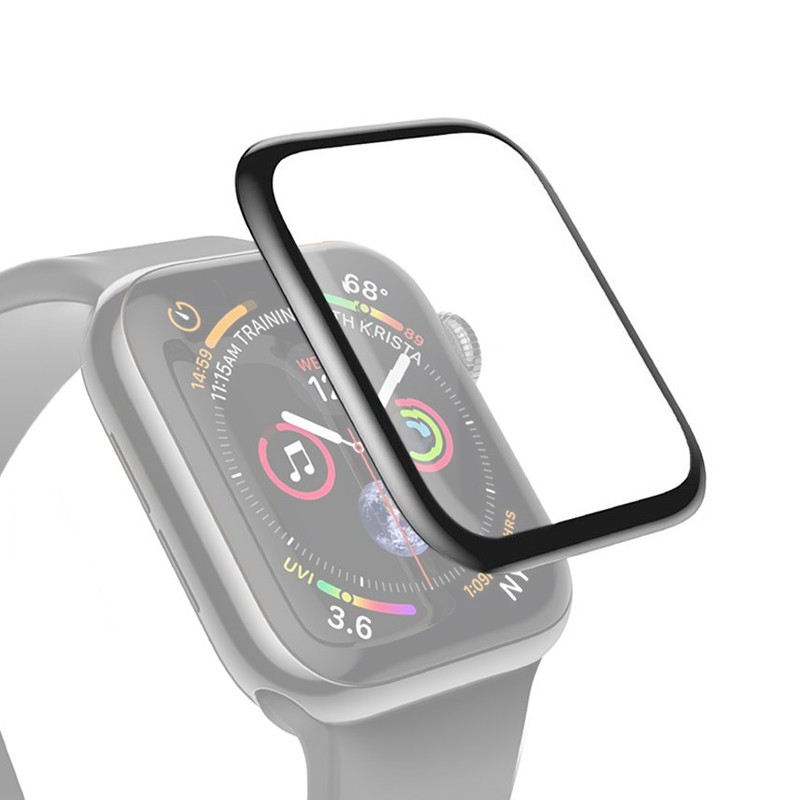 Protective Glass for Apple Watch 42mm Black, Full Glue