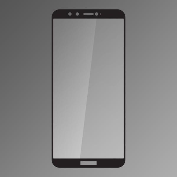 Tempered Glass Q sklo Huawei Honor 9 Lite Black, Fullcover, 0,33 mm