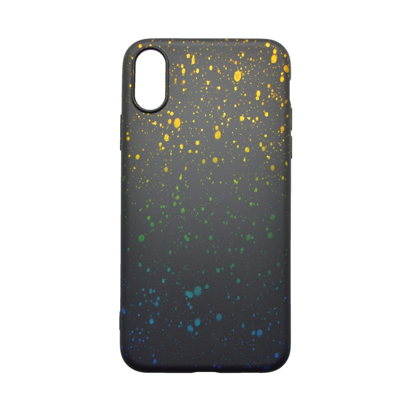 iPhone XR, Silicone Cover Case Sky Yellow-Blue