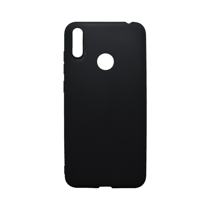 Silicone Cover Case Huawei Y7 2019 Black Matte