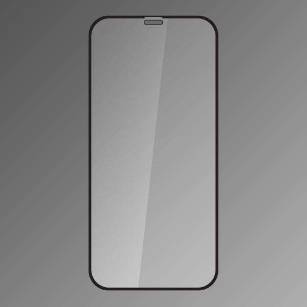 Protective Tempered Glass Q sklo iPhone XS MAX Black, Fullcover, Full glue