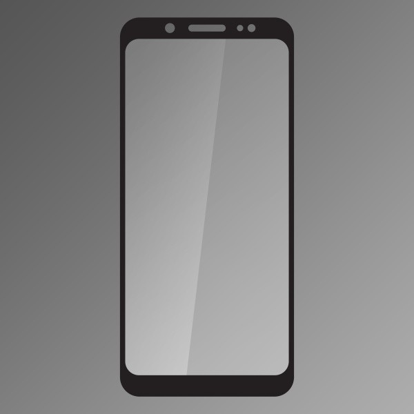 Tempered Glass Samsung Galaxy A6 Plus Black, Fullcover, 0.33mm Qsklo