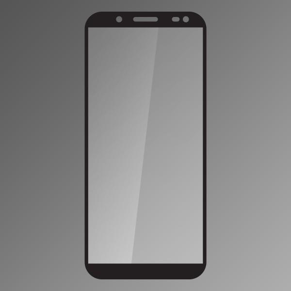 Temepred Protective Glass Samsung Galaxy J6 2018 Black, Fullcover 0.33mm Qsklo