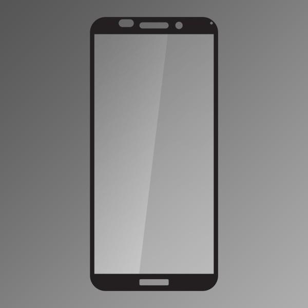 Tempered Glass Q sklo Huawei Y5 2018 Black, Fullcover