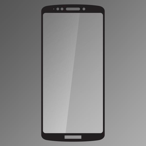 Protective Hardened Glass Qsklo Moto E5 Plus Black, Fullcover