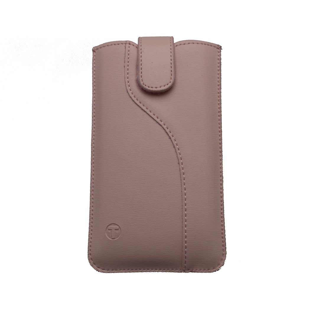 Leatherette Pouch,  5.0' size 144x74x8.5, S-line edition, pink