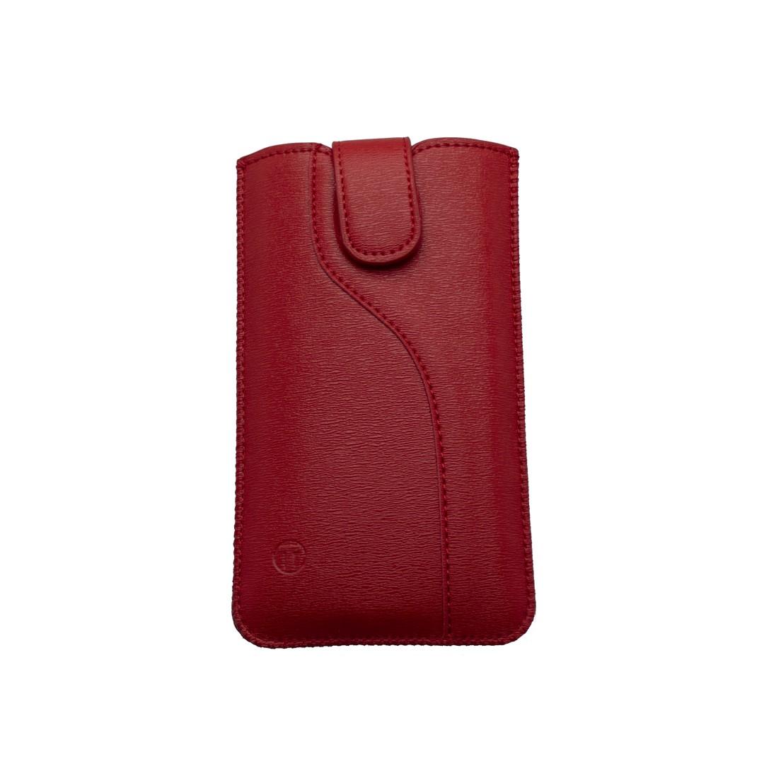 Leatherette Pouch,  5.0' size 144x74x8.5, S-line edition, burgundy
