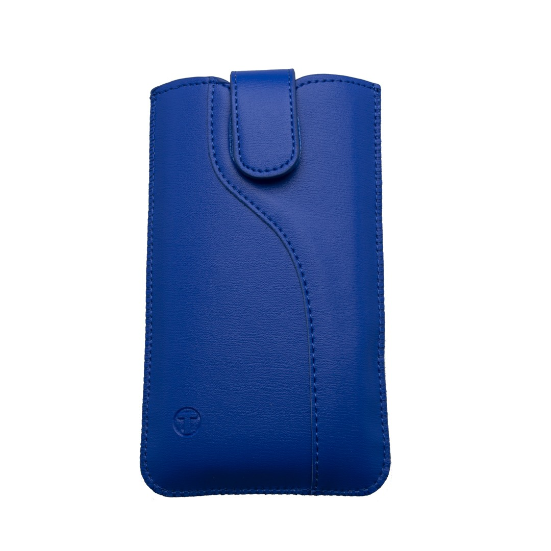 Leatherette Pouch,  6.8' size 162.3x77.2x7.9, S-line edition, blue