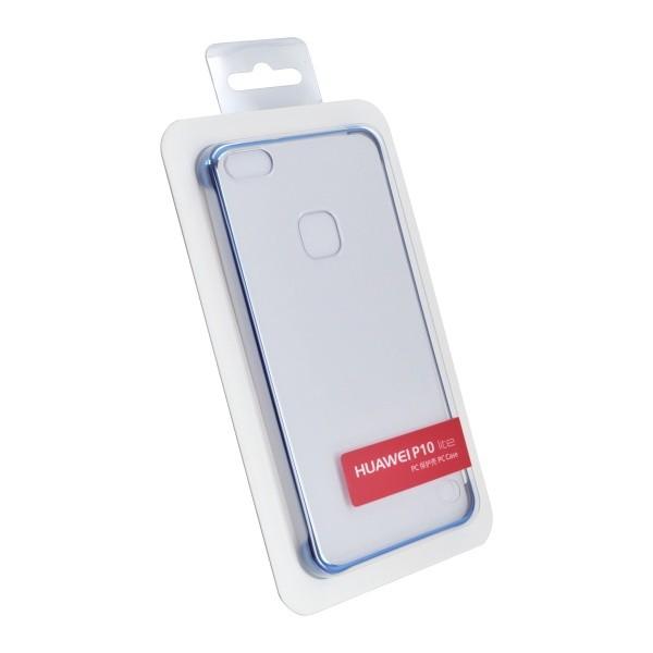 Plastic Cover Case Huawei P10 Lite Warsaw Transparent, Blue Edge