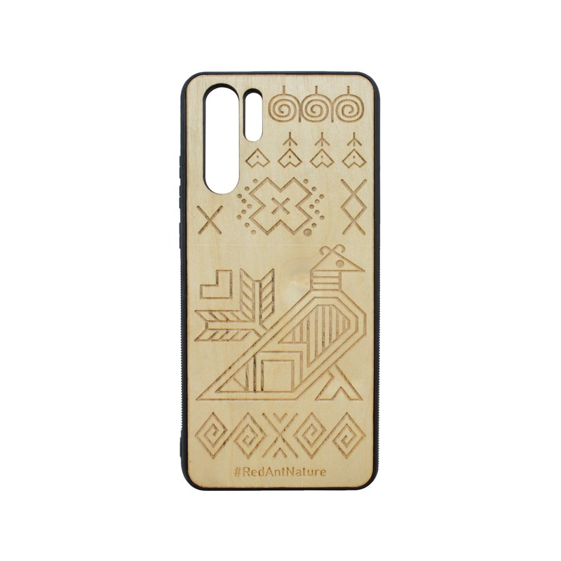 Cover Case Čičmany Huawei P30 Pro Brown, Wooden Element
