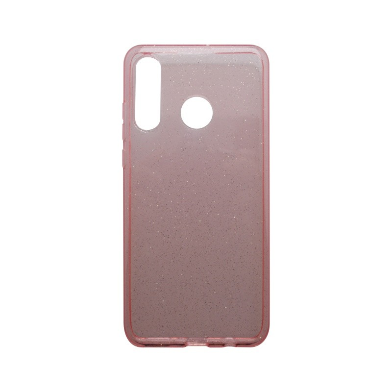 Silicone Cover Case Crystal Huawei P30 Lite Pink