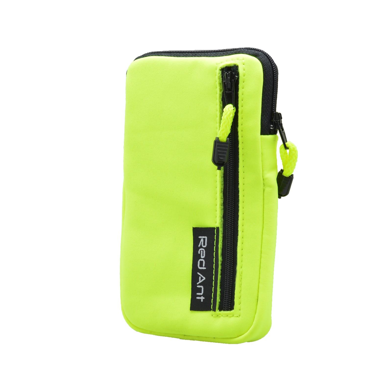 Vodeodolné softshellové puzdro s vreckom neonové žlté