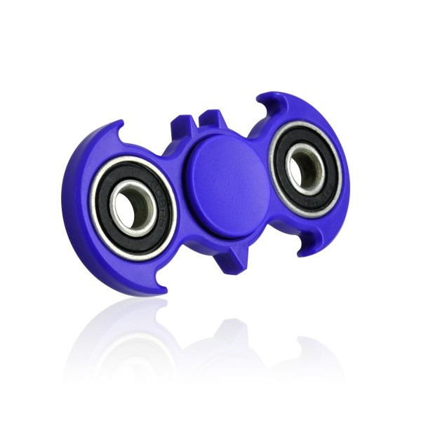 Fidget Spinner Bat Shape Plastic Blue