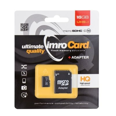 Memory Card Imro 16GB with adapter HQ, class 10