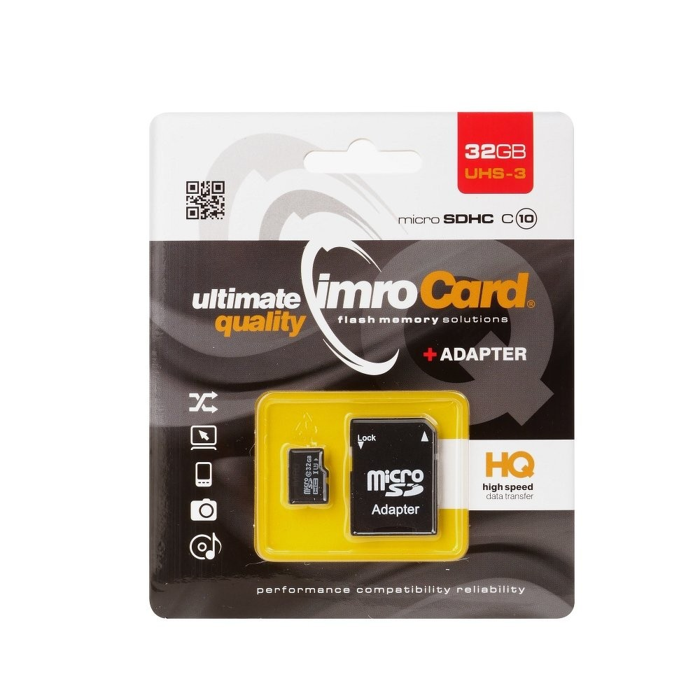 Memory Card Imro 32GB with adapter HQ, class 10