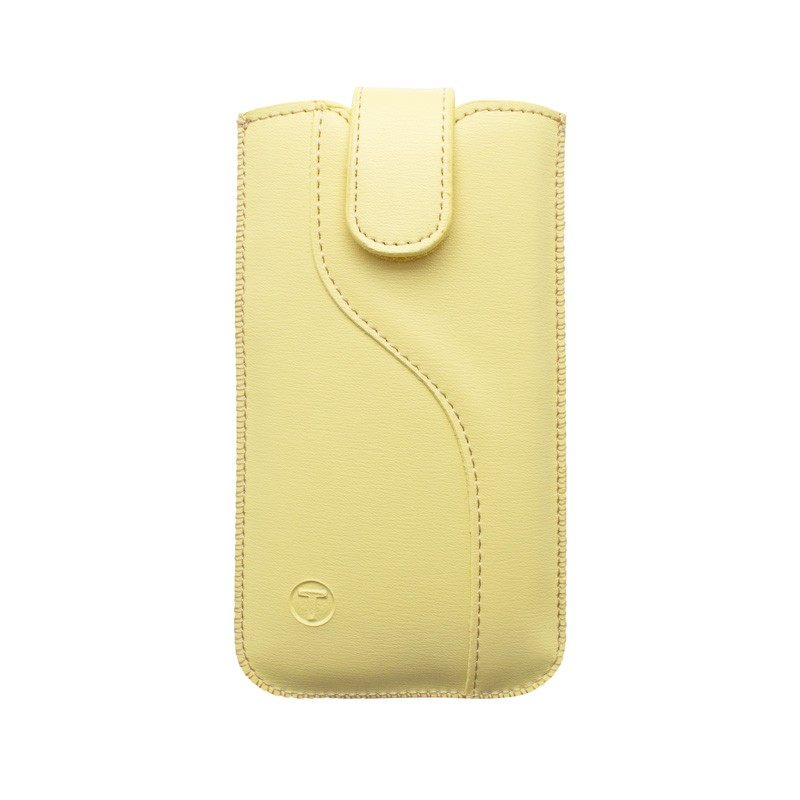 Leatherette Pouch,  4.7'  size 138.4x67.3x7.3, S-line edition, yellow