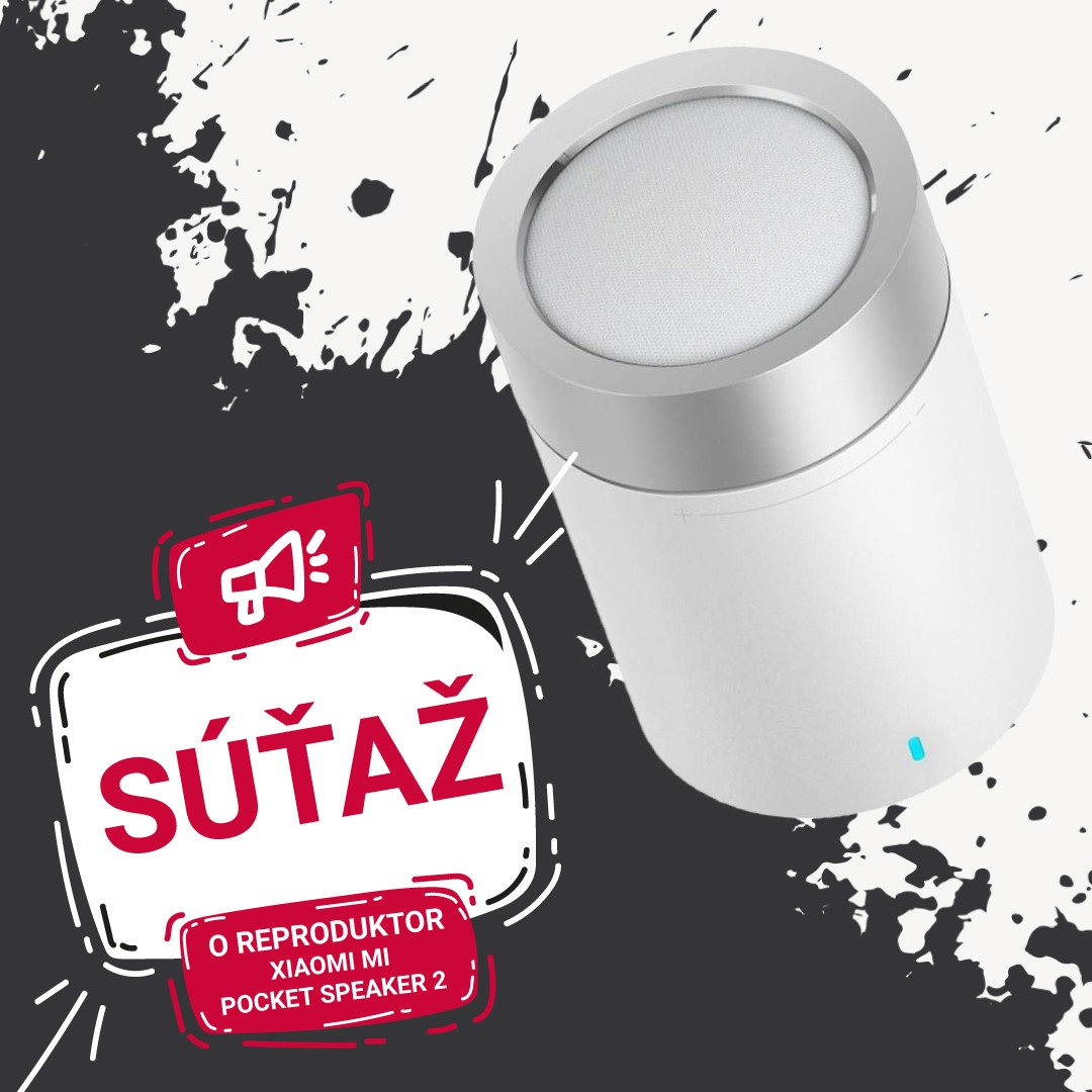 Nakúp so zľavou 20% na www.mobilnet.sk a vyhraj reproduktor Mi Pocker Speaker 2