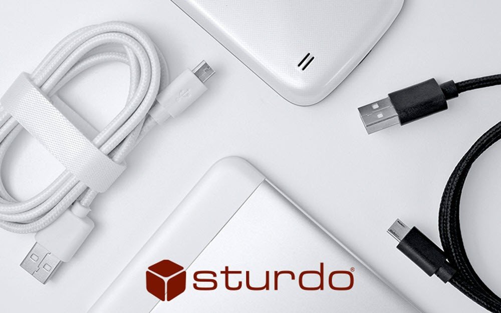 Dátové textilné káble Sturdo micro USB
